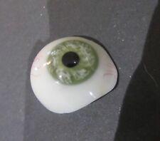 Vintage Prosthetic Human green Glass Eye ancien oeil de verre vert prosthétique