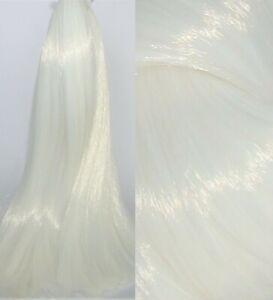 MILK WHITE Synatra Fiber Doll Hair for Custom Reroots