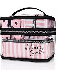 Victoria's Secret Train Travel Case  Pink Makeup, 4 Piece New Lot.
