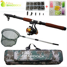 2.4M Spinning Fishing Rod Reel Combo Telescopic Fishing Rod and Reel Full Set