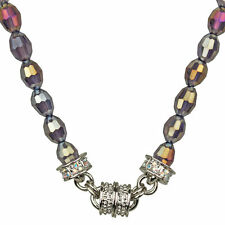 NEW KIRKS FOLLY CRYSTAL DESIRE BEAD MAGNETIC NECKLACE SILVERTONE/TANZANITE AB