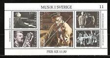 SWEDEN # 1473 MNH PIANIST OPERA JAZZ SAXOPHONIST MUSIC GROUP & VIOLINIST
