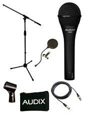 Audix*OM5 Microphone Bundle*OM-5 Mic Boom Stand+Cable+Gooseneck Pop Filter NEW