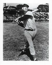 TED WILLIAMS 8X10 PHOTO BOSTON RED SOX MLB BASEBALL PICTURE SWINGING B/W