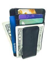 Slim RFID Blocking Front Pocket Wallet Genuine Leather Card Holder Money Clip