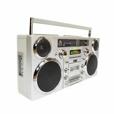 More details for gpo brooklyn portable boombox cd, cassette player fm & dab+ radio usb, bluetooth