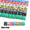 colors Acrylic Dices Board Playing Game Gaming Drinking Dice Entertainment Tool