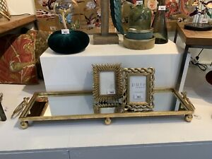 Gold Large Rectangle Iron Mirror Tray Decoration Perfect For Christmas Table