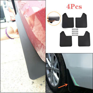 4PCS/Set Front+Rear Fender Mudguards Splash Guards Fit For Car SUV Pickup Van