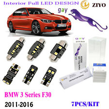 7Pcs LED Interior Lamp Kit HID White 6K Fit 2011-2016 BMW 3Series F30 Error Free