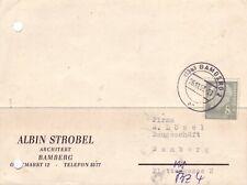 BRD Heuss Brief : Ortskarte Bamberg 26.11.1957