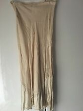 Beige Linen Midi Skirt, Rinascimento, Size 10