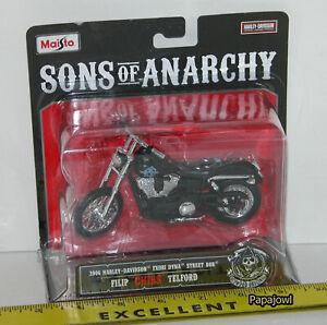 "Sons Of Anarchy SOA Filip ""Chibs"" Telford 2006 Harley Davidaon FXDBI DYNA Maisto"
