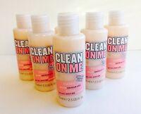 Lot of 6 ~ Soap & Glory CLEAN ON ME Moisture Shower Gel 2.5 oz ea, TRAVEL SIZE!