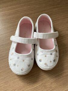 Next Girls Size 5 White Mary Jane Pumps