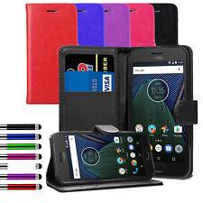 For Motorola Moto C G4 G5 G6 Play E4 Plus E5 Go Leather Flip Wallet Case Cover