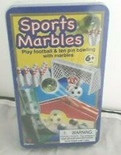 Sports Marbles Play Football & Ten Pin Bowling NEW SEALED IN TIN