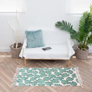"AIRI Rectangle 2 ft x 3 ft Plant Handmade Flatweave Green Area Rug 24"" x 36"""