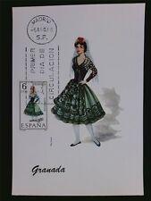 SPAIN MK 1968 TRAJES GRANADA TRACHT COSTUME MAXIMUMKARTE MAXIMUM CARD MC c6087