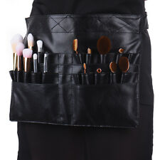 PU Leather Cosmetic Makeup Brush Apron with Artist Belt Strap Professional Bag