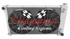 "3 Row Perf Radiator 28"",14"" Fans for 1967,1969 - 1972 Chevy C/K Series V8 Eng"