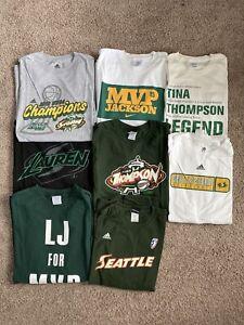 Lot of 8 Seattle Storm WNBA Shirts Champions Lauren Jackson Tina Thompson MVP