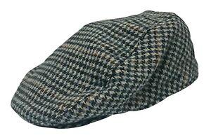 Mens English Vintage Winter Wool Blend Plaid Ivy Newsboy Bill Flat Cap Hat