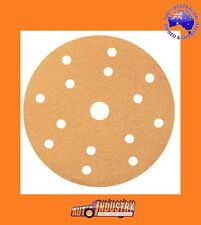 "BOX/100 MIXED VELCR0 15-HOLE UNIVERSAL SANDING DISCS 150mm(6"")PICK UP TO 4 GRITS"