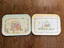 Set Of 8 Vintage Easter Placemats Rabbit & Lamb Eggs & Flowers Super Cute & Uniq