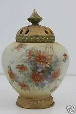 Royal Vienna Alexandra Porcelain Hand Painted Potpourri Vase Shouldered Form