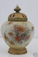 Royal Vienna Alexandra Porcelain Hand Painted Potpourri Vase Shouldered Form