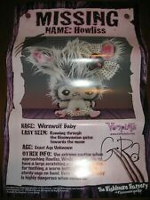 Vamplets G-RA Signed HOWLISS Werewolf Baby Poster Gloomvania SDCC Comic Con