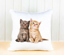 PERSONALISED PHOTO SOFT CUSHION COVER WITH YOUR PET CAT, KITTEN KEEPSAKE GIFT