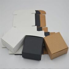 100pcspaper Craft Box Small White Soap Cardboard Paper Packing Package Box Set