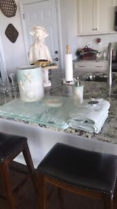 6 Piece Seafoam Green Bathroom Set