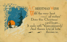 A&C Vintage Christmas Greeting A.M. Davis Postcard - A Christmas Wish