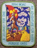 1994 NOAC Jacket Patch - An Adventure For Many A Journey For One - BSA/OA