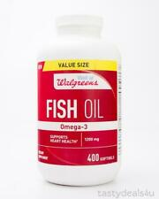 Well at Walgreens Fish Oil Omega-3 1200mg Dietary Supplement 400 Softgels 8/20+