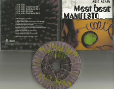 MEAT BEAT MANIFESTO Acid Again 5TRX w/ RARE MIXES & DUB 1998 PROMO DJ CD Single