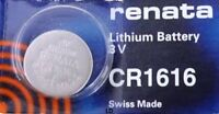 CR 1616 RENATA WATCH BATTERY CR1616 ECR1616 FREE SHIPPING Authorized US Seller