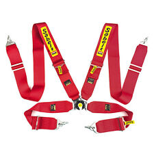 Sabelt Universal Red 4 Point Camlock Quick Release Racing One Seat Belt Harness