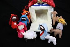 Nativity Playhouse Soft Quiet Play Fabric Portable Manger Storage Kubla Kids