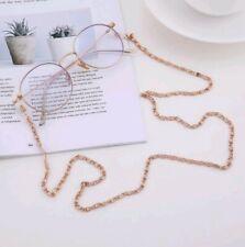 Rose gold Bead Sunglasses Lanyard Strap reading chain Eye-glasses cord fashion