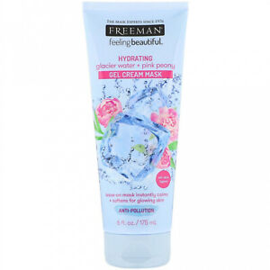 Freeman Beauty, Feeling Beautiful, Hydrating Gel Cream Mask, Glacier Water + 6
