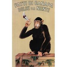 FATTI DI CANAPA - MONKEY WEED POSTER - 24x36 SHRINK WRAPPED - POT MARIJUANA 0614