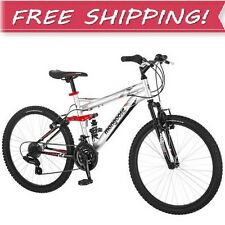 "NEW 24"" INCH BOYS MOUNTAIN BIKE Kids Youth Bicycle Outdoor 10 Years & Up Silver"