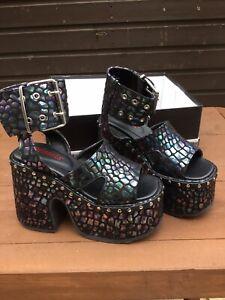 DOLLS KILL Demonia Platform Shoes Size Uk 4