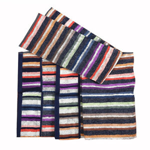 MISSONIHOME hand + bath TOWEL SET COTTON TESEO 100 BRANDED PACKAGE 100% COTTON