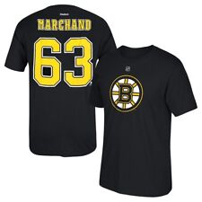 Reebok Brad Marchand Boston Bruins Black Name and Number Player T-shirt XXL c06cab9a2