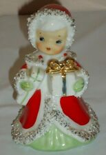 "Vintage Lefton CHRISTMAS ANGEL Bell Figurine Japan 4""H"